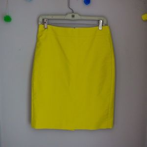JCrew Pencil skirt in sunny yellow